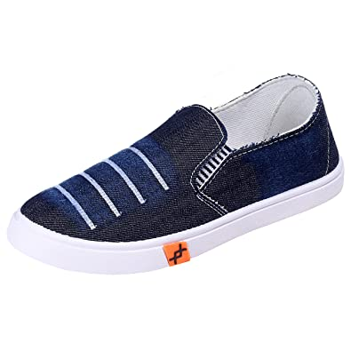 030e87885e2a7 ANEX Slip On Fashion Sneakers Men Comfortable Chic Men Shoes Casual Sneakers  - Denim Men Sneakers