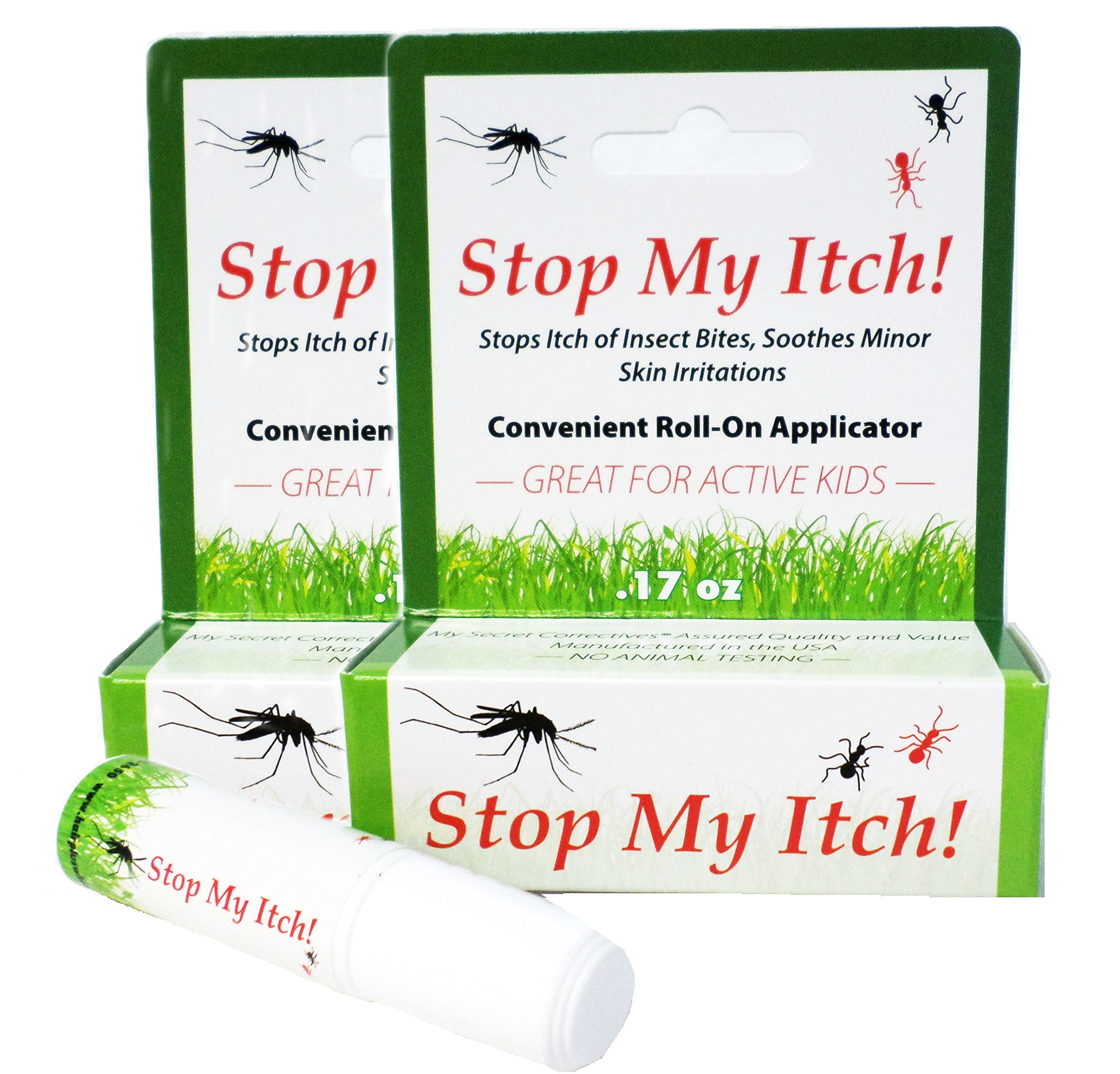 Stop My Itch! Two Pack/Instantly Stops The Itch of Mosquito Bites (Also Gnats, Ticks, Flies, May Flies and Many More); Soothes Scrapes and Minor Skin Irritation. Quick and Effective/0.17