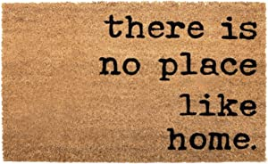 NIKKY HOME Coir Doormat Non Slip Front Door Mat with Word There is no Place Like Home - 17