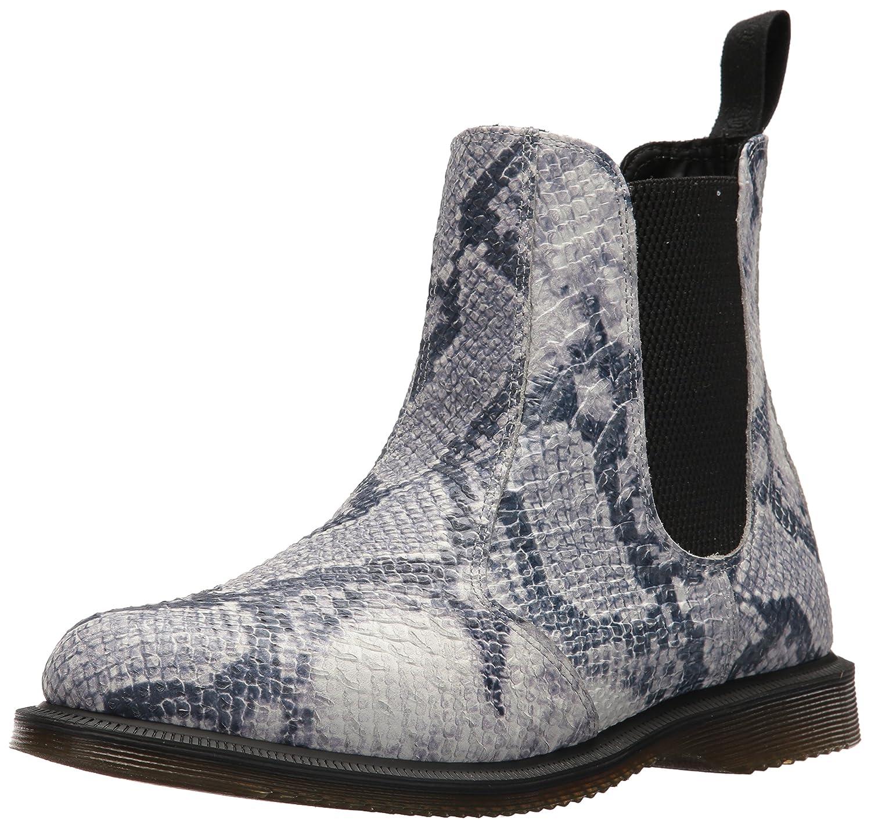 Dr. Martens Women's Flora Snake Fashion Boot B072N2LD9N 4 Medium UK (6 US)|Light Grey