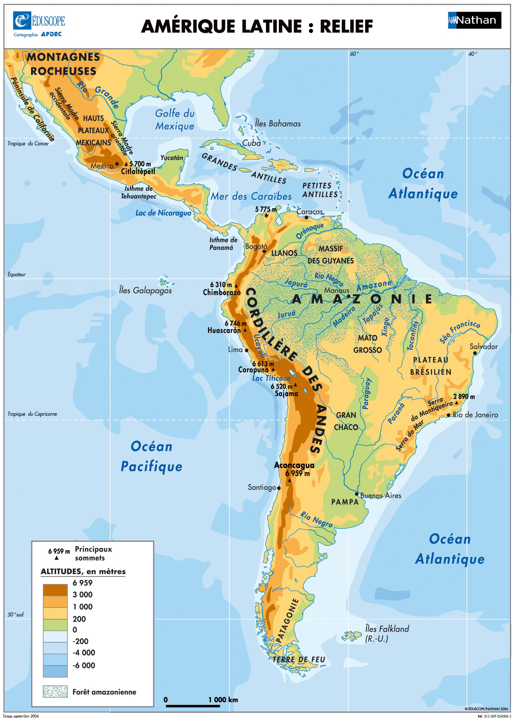 carte amérique latine