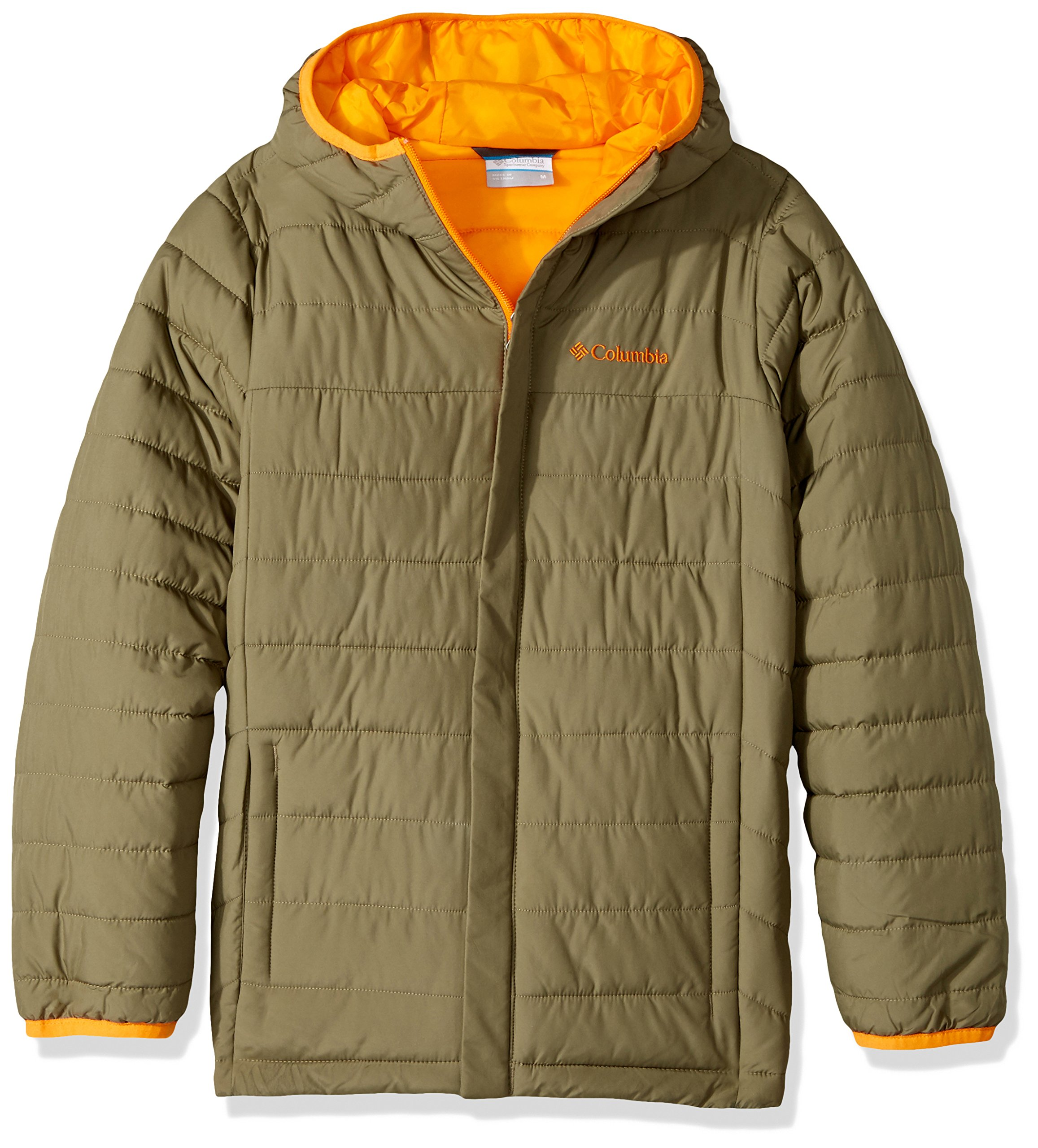 Columbia Boys' Big Powder Lite Puffer Jacket, Sage, X-Large