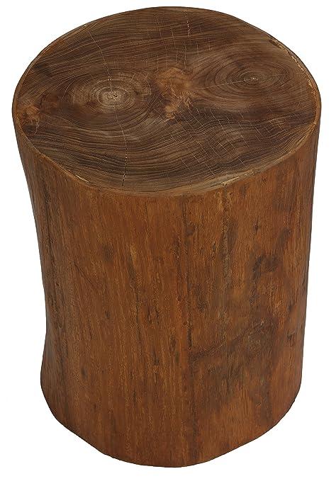 Bon Amazon.com: Bare Decor Adi Round Tree Stump End Table / Stool: Home U0026  Kitchen