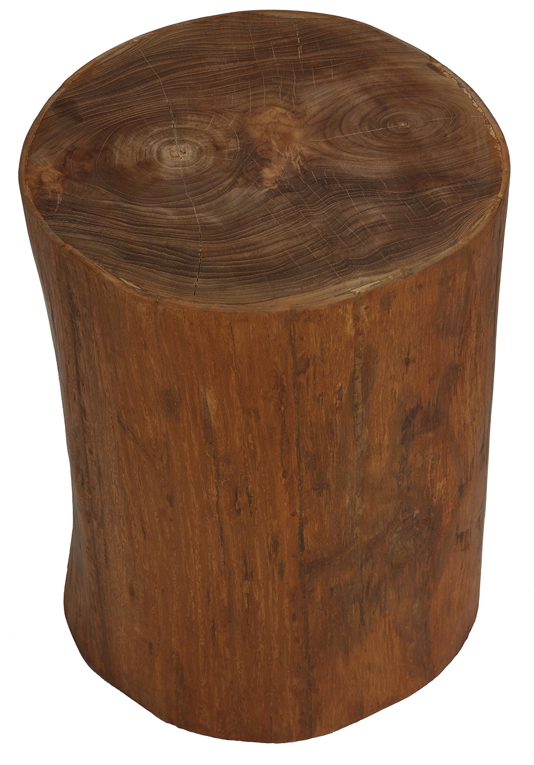 Bare Decor Adi Round Tree Stump End Table/Stool - Artisan end table Hollow insides make this lightweight yet durable Use as a table, decor, plant stand, or stool - living-room-furniture, living-room, end-tables - 91rqoAEbx0L -