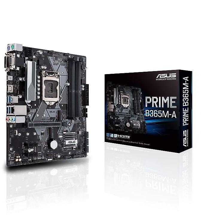 ASU Prime B365M-A - Placa Base (LGA 1151, Intel B365 chipset, soporta 14 NM CPU, 4 x DDR4, Intel HD Graphics, 7 x USB 3.1, 4 x USB 2.0, mATX)
