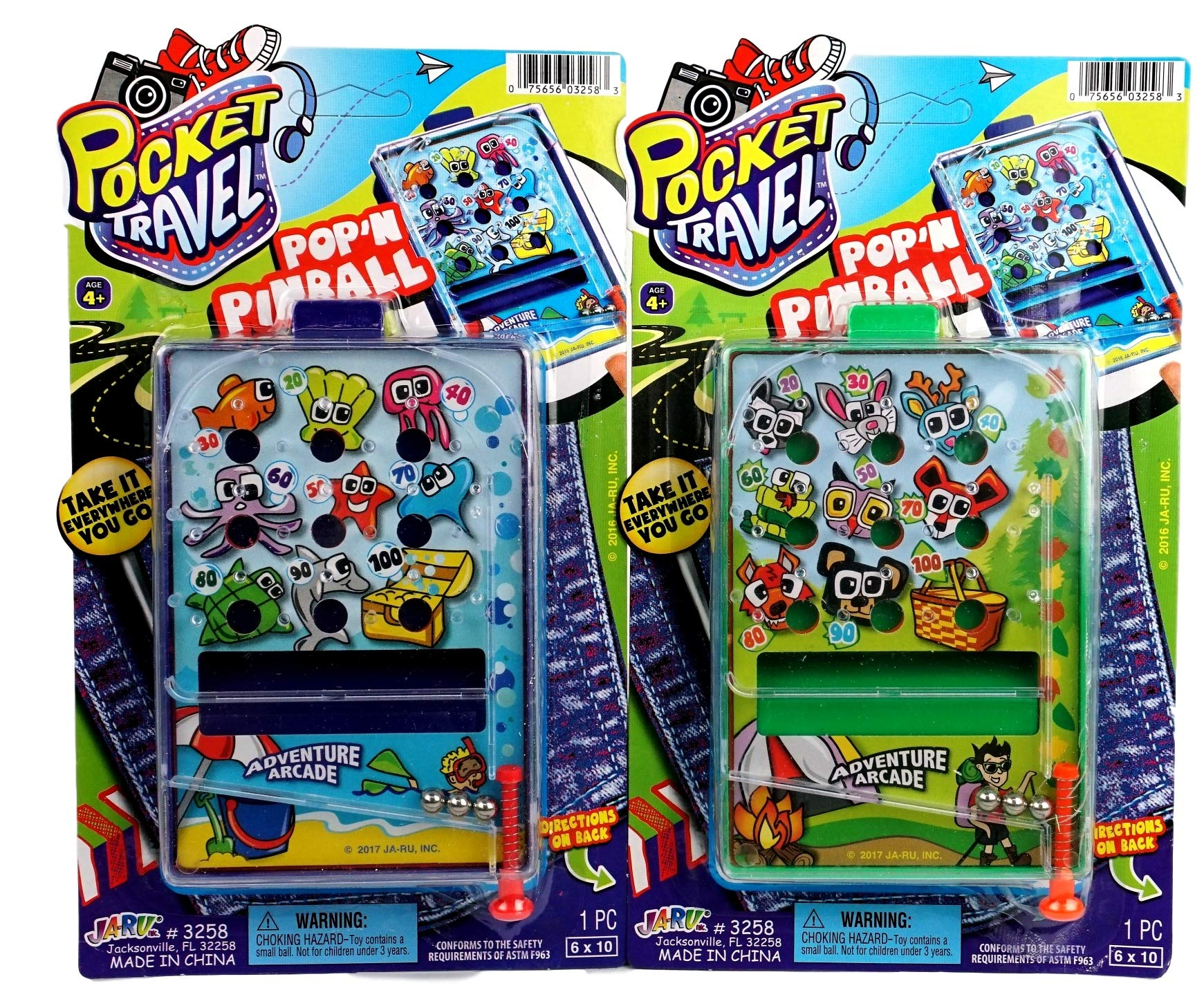 JA-RU Pinball Pocket Travel Game (144 Units) and one Bouncy Ball Item #3258-144p by JA-RU (Image #4)