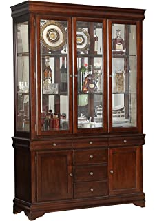 ashley furniture china cabinet Amazon.  Ashley Larchmont Wood China Cabiin Brown   China  ashley furniture china cabinet