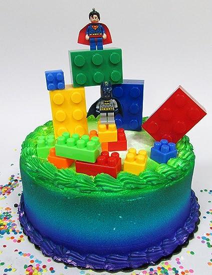 Prime Super Hero Lego Batman Birthday Cake Topper Set Featuring Figures Personalised Birthday Cards Akebfashionlily Jamesorg