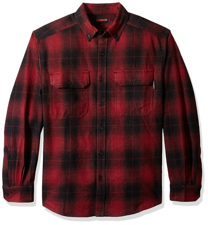 (ウルヴァリン) Wolverineメンズシャツ Redwood厚手両面起毛 フランネル B071H8T97W XL Oxblood Plaid Oxblood Plaid XL