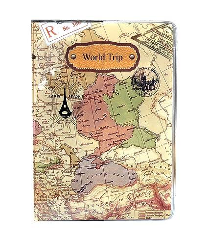 Amazon world map unisex id holder passport case fashion travel world map unisex id holder passport case fashion travel protect cover gumiabroncs Gallery