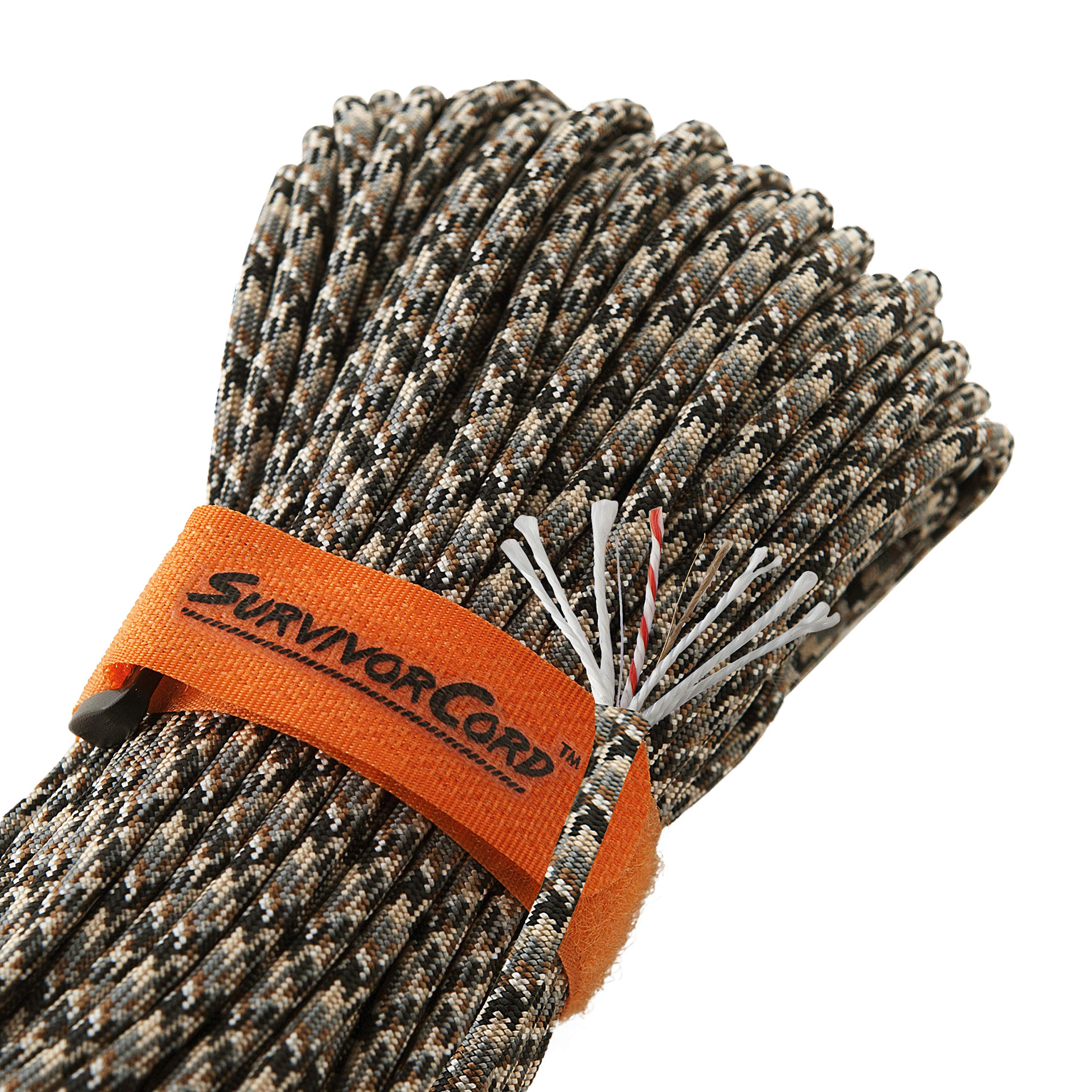 Titan SurvivorCord | Snakeskin | 103 Feet | Patented Military Type III 550 Paracord/Parachute Cord (3/16'' Diameter) with Integrated Fishing Line, Fire-Starter, and Utility Wire. by Titan Paracord (Image #1)