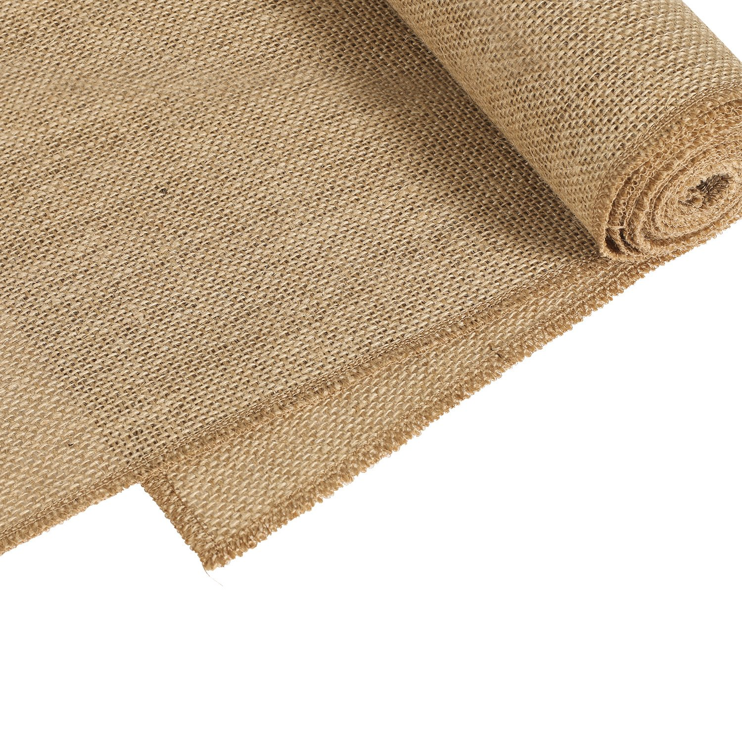 Ling's moment 12''x108'' Nearly Natural Burlap Wedding Table Runner Jute Spring Summer Easter Decoration Country Rustic Wedding Decorations Farmhouse Kitchen Decor by Ling's moment (Image #2)
