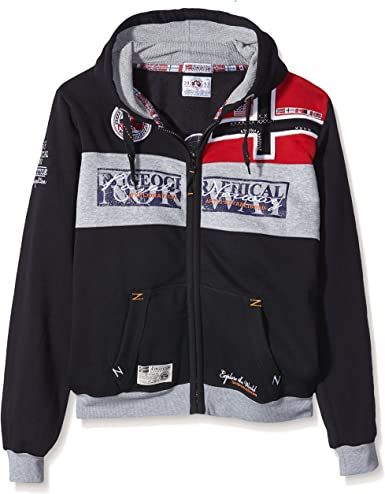 GEOGRAPHICAL NORWAY Hombre Diseñador Hoodie Capucha Chaqueta - FLYER -
