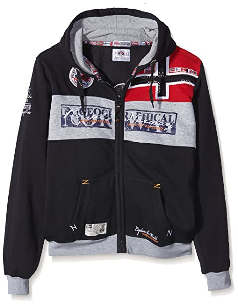 GEOGRAPHICAL NORWAY Hombre Diseñador Hoodie Capucha Chaqueta - FLYER -S
