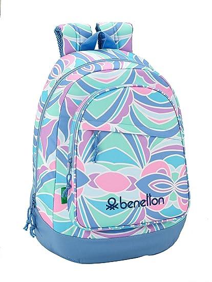 nuovo stile b9c1a 65239 Safta Benetton Iris Alcobaleno Zaino Casual, 46 cm, Multicolore ...