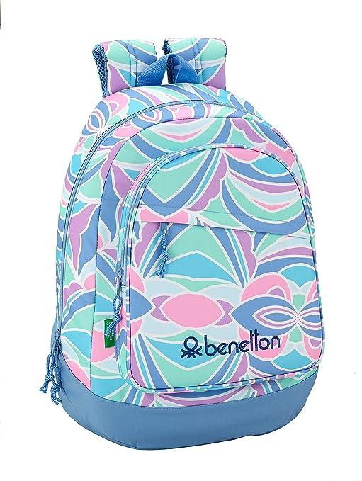 "Benetton ""Arcobaleno"" Oficial Mochila Juvenil Grande 330x175x460mm"