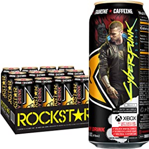 Rockstar Energy Drink, Original, 16oz Cans (12 Pack) (Packaging May Vary)