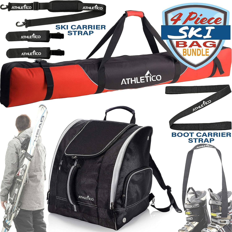 Ski Carrier Ski Boot Bag Ski Bag Athletico Mogul Padded Ski Bag Bundle Ski Boot Strap