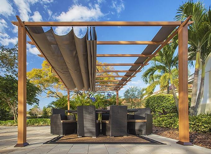 STC prn160 11 x 16 pies. Florencia aluminio Pergola: Amazon.es: Jardín