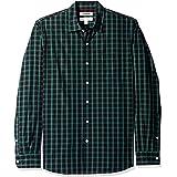 Goodthreads Amazon Brand Standard-Fit Long-Sleeve Plaid Poplin Shirt Mens
