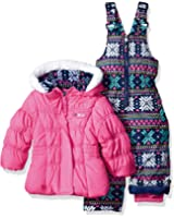 e5452ac730f3 Amazon.com  Rothschild Little Girls  Snowsuit with Printed Puffer ...