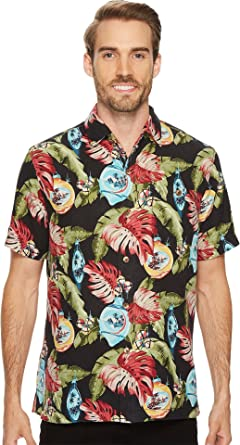 ef7c13a7 Tommy Bahama Christmas With Bells on Silk Camp Shirt at Amazon Men's  Clothing store: