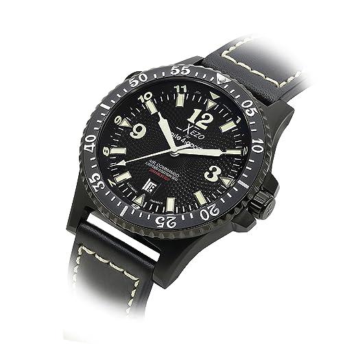 Reloj automático Air Commando Divers Xezo,Cristal de Zafiro Suizo, Movimiento Citizen. 20 ATM: Amazon.es: Relojes