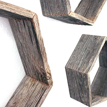 Amazon.com: BarnwoodUSA - Estantería de madera para colgar ...
