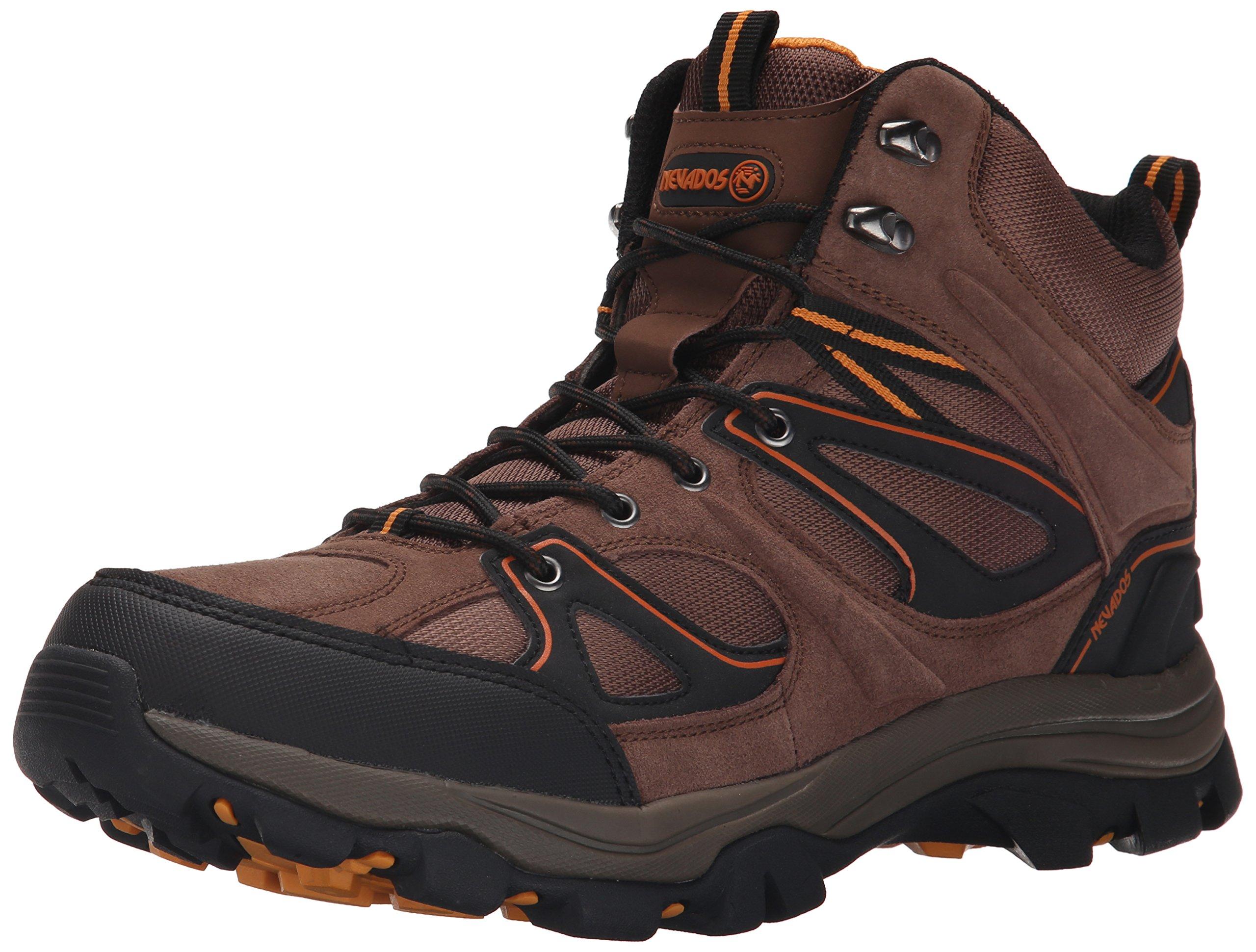Nevados Men's Talus Hiking Boot, Dark Tan/Black/Orange, 12 M US