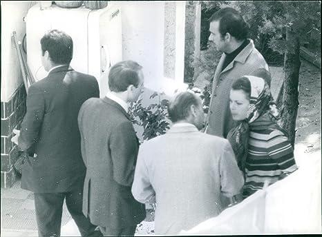 Foto vintage di maria beatrice di savoia e maurizio arena in una