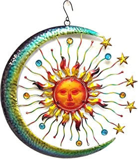 Bejeweled Display® Large Sun Face Star u0026 Moon w/ Glass Wall Art Plaque  sc 1 st  Amazon.com & Amazon.com : Luxe Large Outdoor COPPER SUN Wall Art Decor Plaque ...