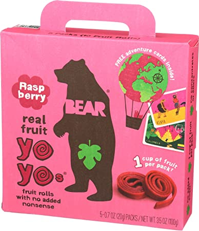 Bear Yoyo Fruit Roll Raspberry Multipack, 3 5 oz