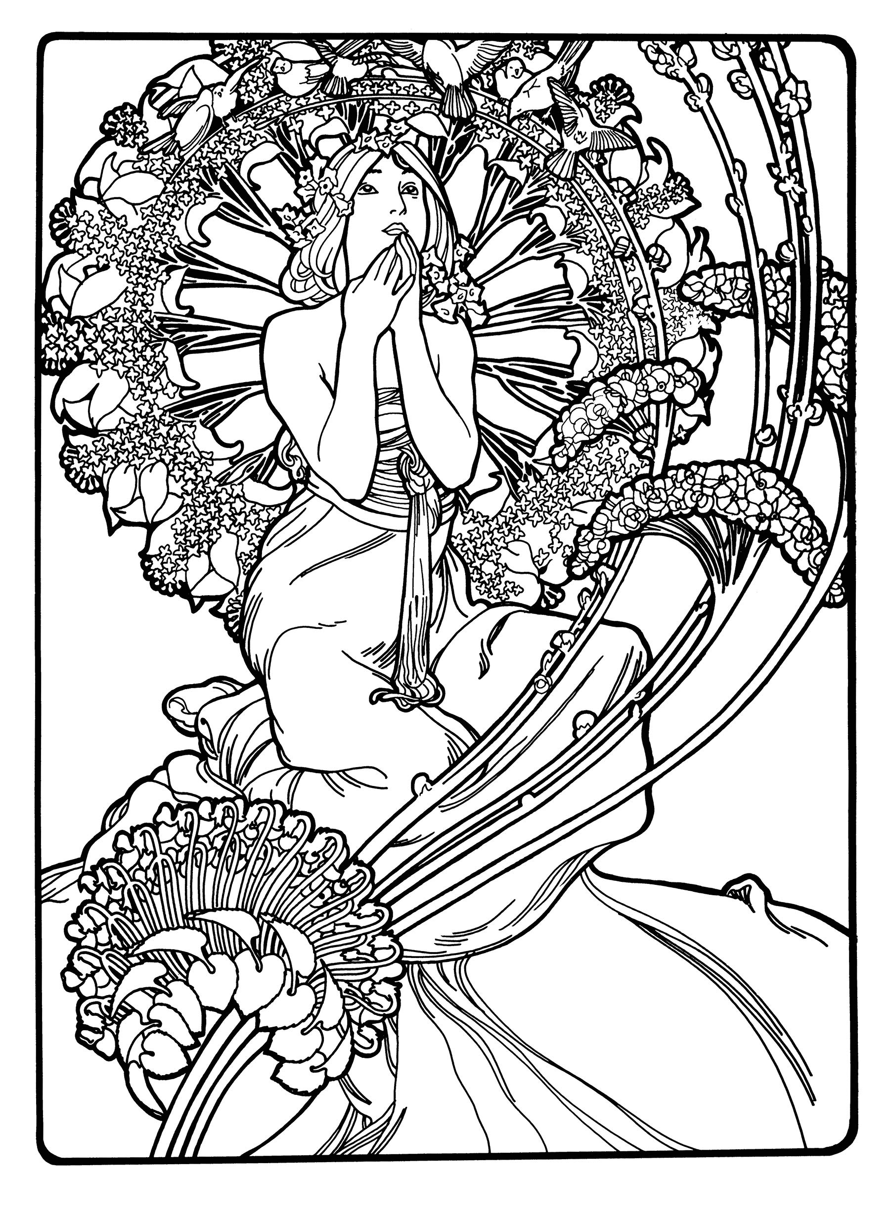 - Creative Haven Art Nouveau Designs Coloring Book (Creative Haven