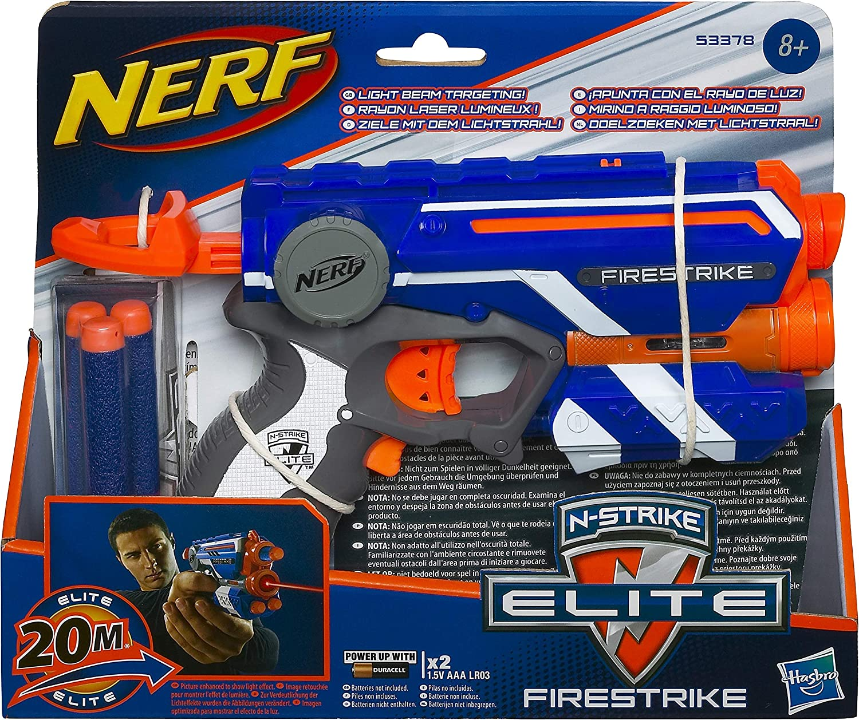 Nerf- Elite firestrike Pistola con luz, Color Naranja (53378EU4)