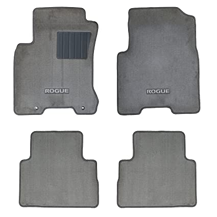 2008 2010 Nissan Rogue FLOOR MATS 4 PcCarpeted   Gray OEM 999E2 GX011