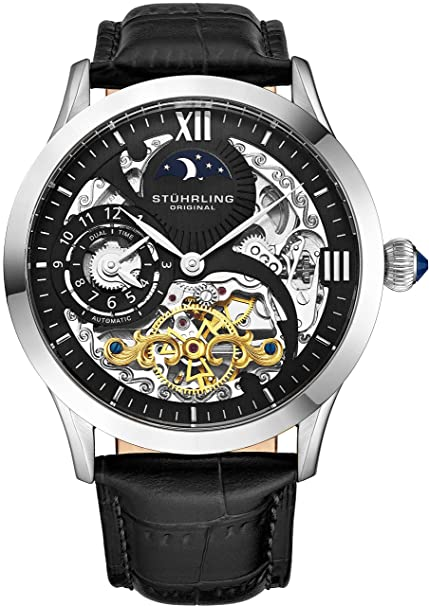 Stuhrling Original Classic Analog Black Dial Men's Watch - 571.33151 Men's Watches at amazon