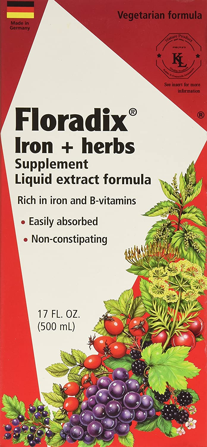 Flora Floradix Iron + Herbs, 17 Oz (Pack Of 2) by Flora