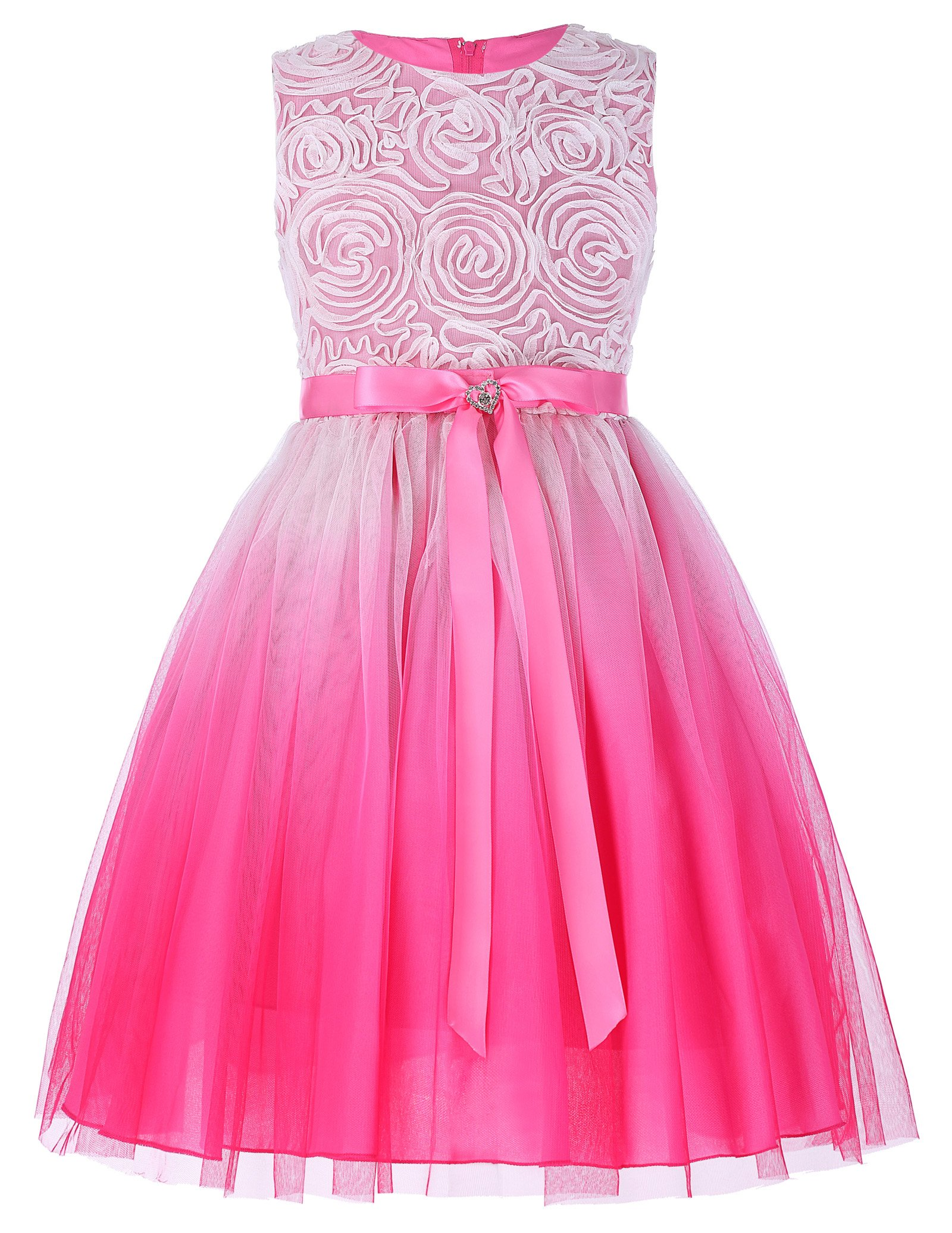 16e5c0a0a10 Galleon - GRACE KARIN Lovely Tulle Pleated Lace Flower Girl Party Birthday  Dresses 6-7yrs CL438-1