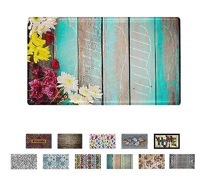Amazon.com: Mabel Home - Felpudo de PVC de diseño moderno y ...