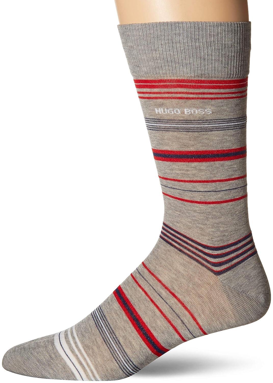 Hugo Boss Mens Multi Stripe Pattern Dress Sock