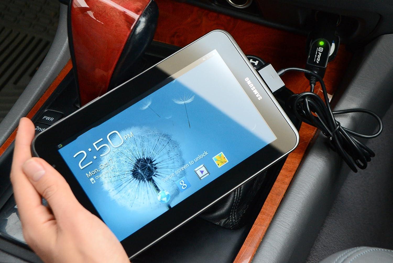 Car Charger Samsung Galaxy Tab 2 7.0 7.7 7 Plus ETA-P11JBEGXAR ETA-P10JBEGSTA Tablet PC Tab Auto Power Cord Compatible 238-PWR53-78516 8.9 10.1; Galaxy Note 10.1 inches Pwr+ Extra Long 5.5 Ft Cord