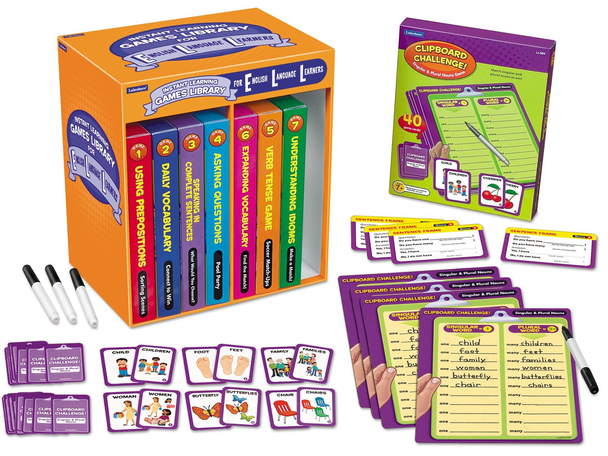 Lakeshore English Language Learner Games - Set of 8