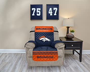 NFL Denver Broncos Recliner Waterproof Furniture Protectors With Pockets