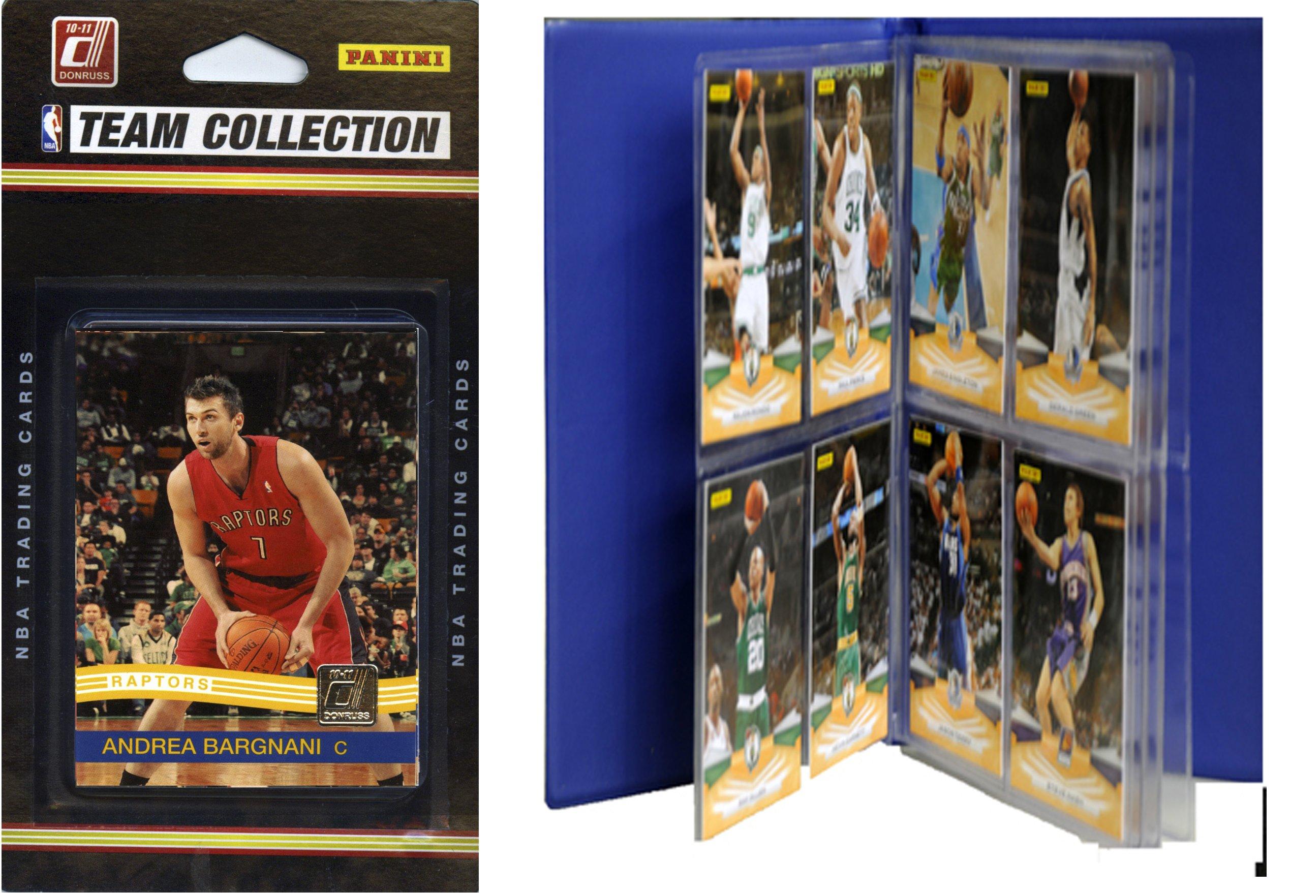 NBA Toronto Raptors Licensed 2010-11 Donruss Team Set Plus Storage Album by C&I Collectables