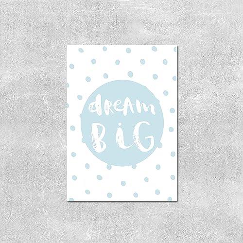 baby boy wall art dream big print gift for baby blue nursery decor baby nursery decor furniture uk