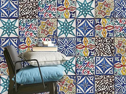Sticker Fliesen Mosaik   CREATISTO Fliesenaufkleber Bad Fliesensticker    Fliesen Folie Selbstklebend   Bad Deko
