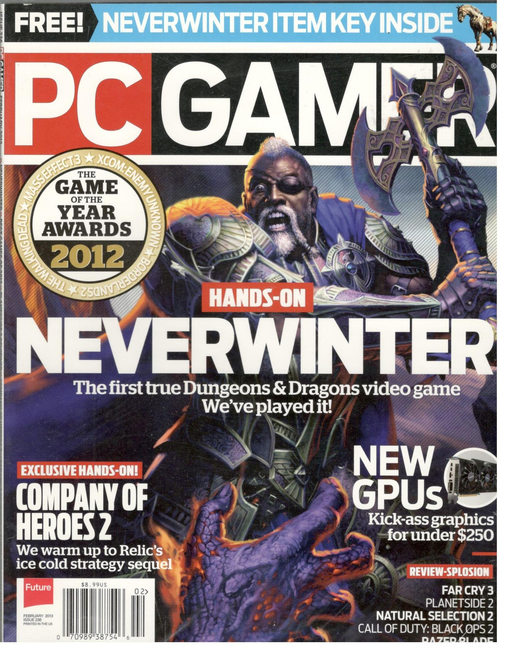 PC Gamer Magazine # 236 (February 2013, Neverwinter