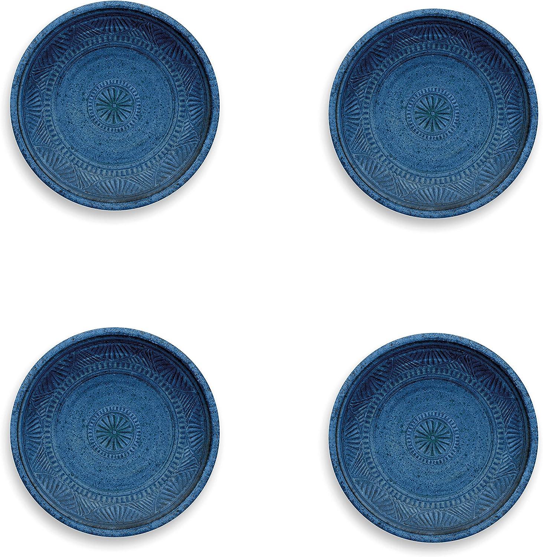 Epicurean Artisan Bleu indigo en mélamine Dîner Assiettes-Lot de 6-Extérieur//Camping