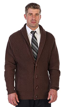 a65a6245b Gioberti Men's Toggle Button Cardigan Knitted Sweater, Brown, Small