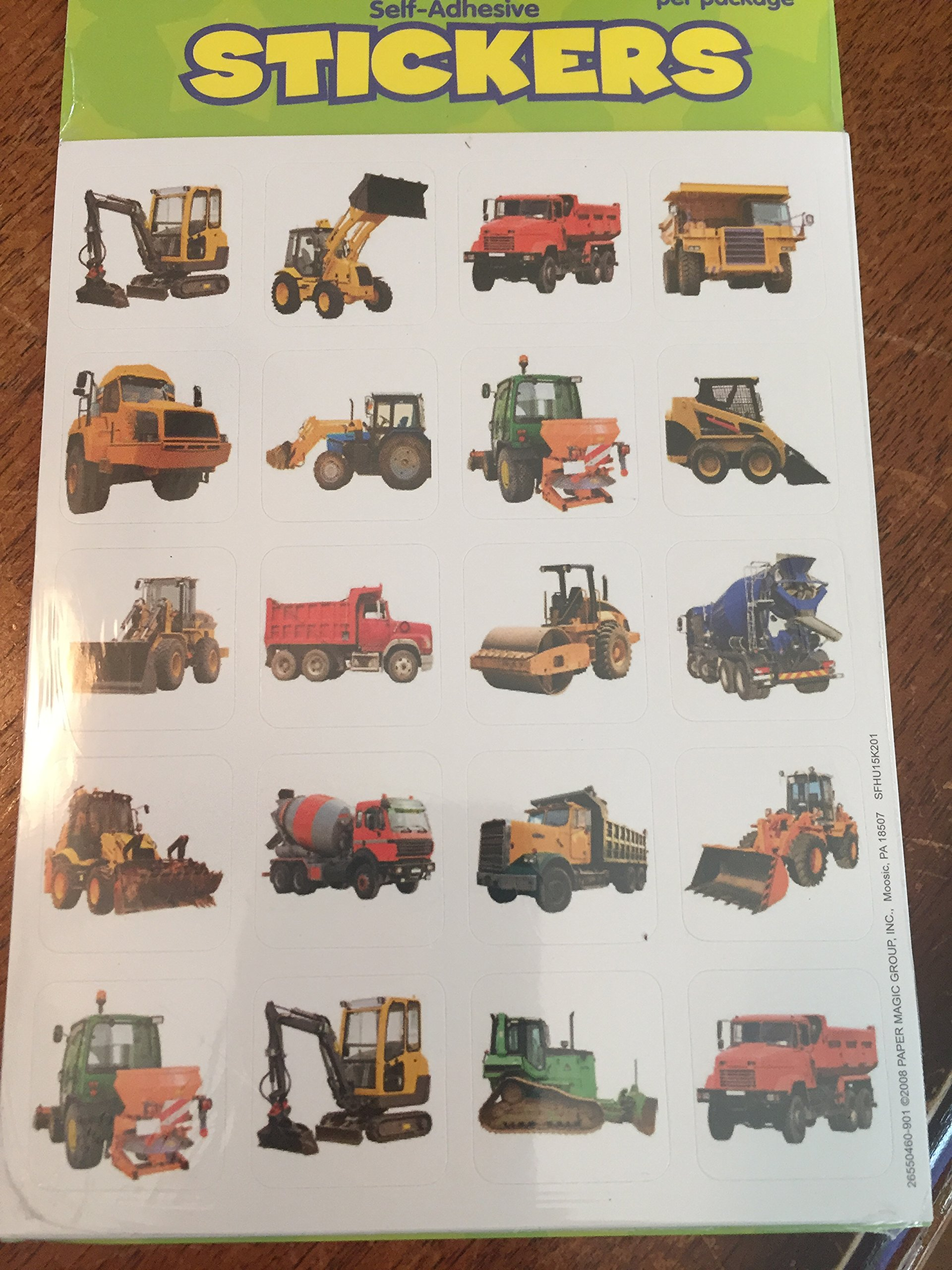 240 CONSTRUCTION Vehicle TRUCK Photo Stickers - Backhoe BULLDOZER Dump Truck LOADER - Cement Mixer - Teacher Motivational Rewards EDUCATION Classroom Party Favors